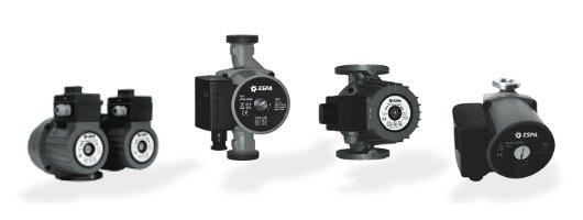 ESPA Pompe - Gamma circolatori a 3 velocità